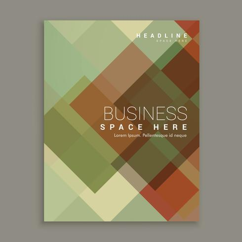 abstract shapes business brochure flyer cover page design in siz