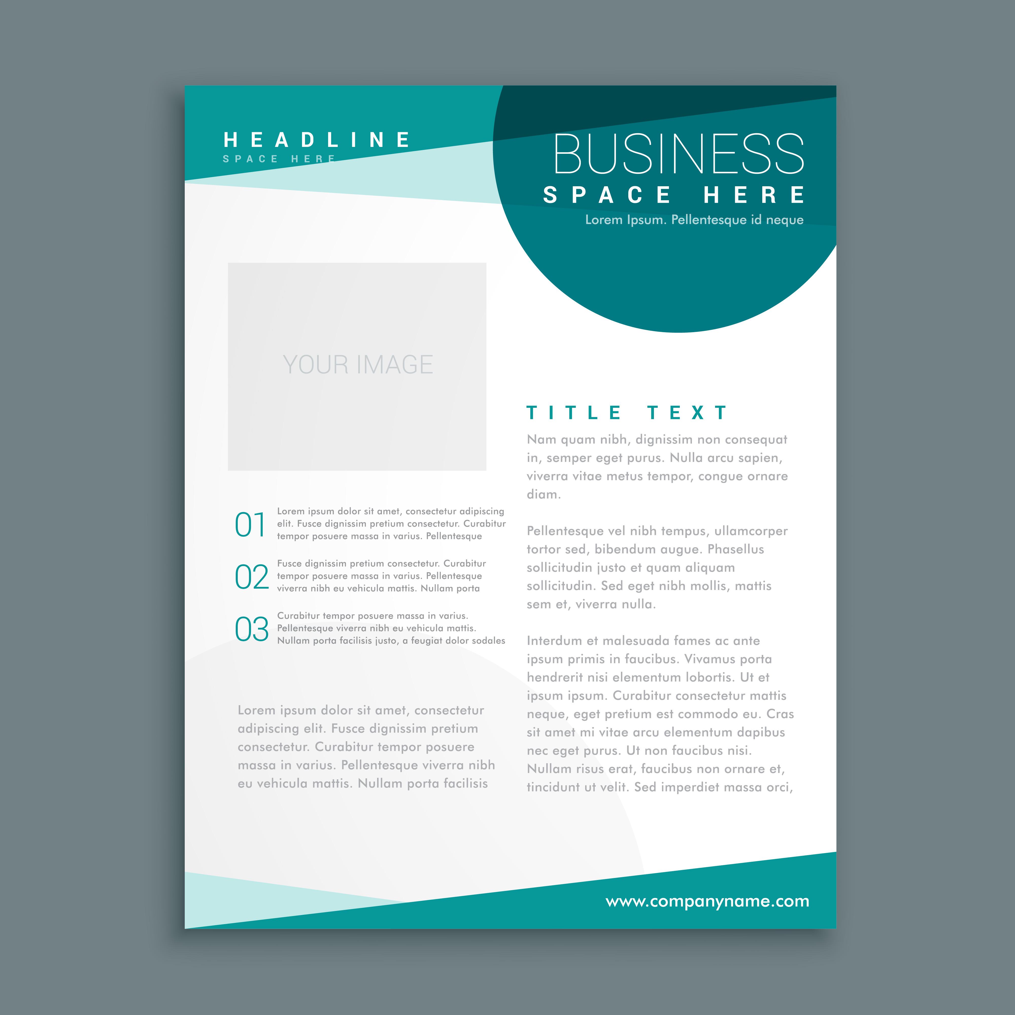simple blue brochure design template in size a4
