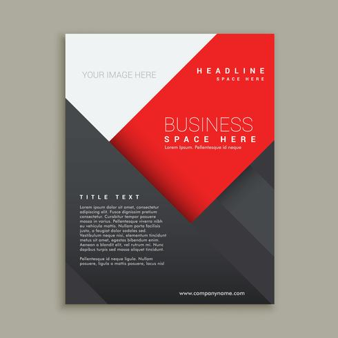design de modelo de folheto de negócios mínimo