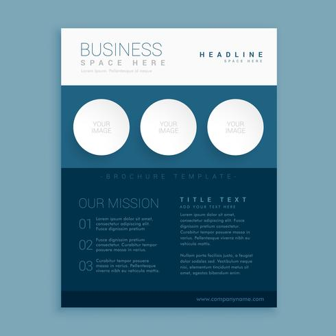 creative blue brand brochure template