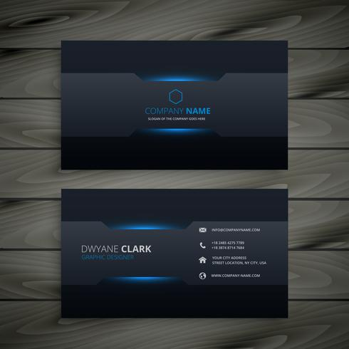 dark business card template vector design ilustração