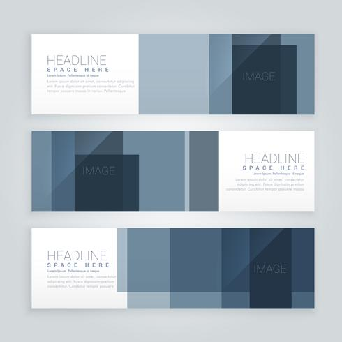 set of abstract business banners