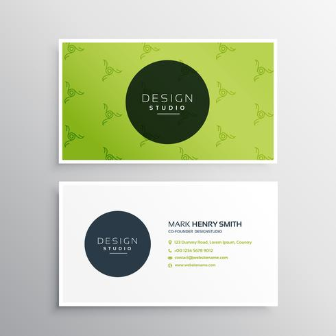 Minimal green business card vector design template download minimal green business card vector design template reheart Choice Image