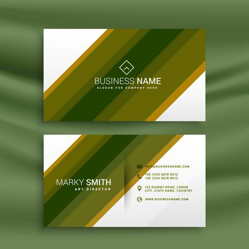 green stripe business card template presentation
