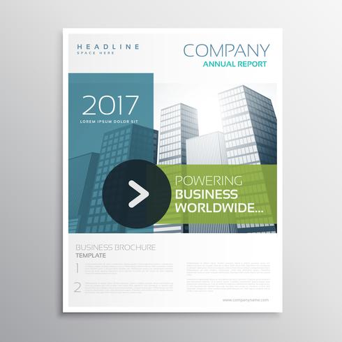 company brochure vector design template in clean modern style