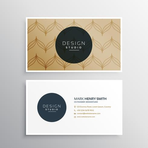 creative vector business card with minimal brown pattern