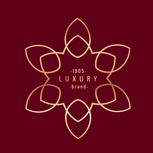 golden luxury label