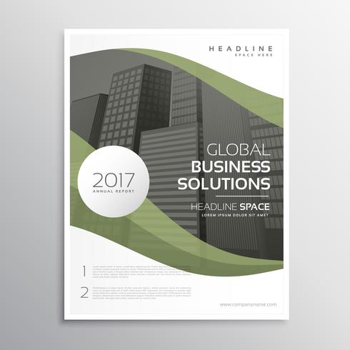 elegant business brochure flyer poster template design in size A