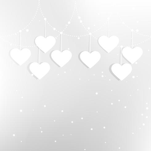 hearts in white background vector design illustration