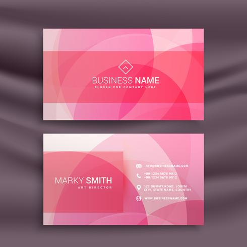 beautiful abstract pink shapes business card design