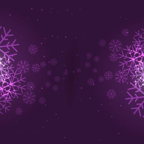 snowflakes background in purple