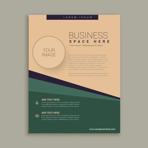 abstract brochure design with geometric lines