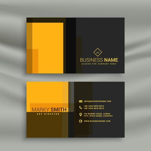 yellow and black simple style business card