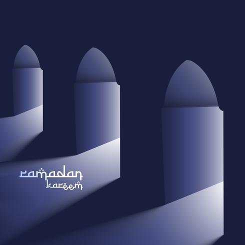 masjid doors with holy light ramadan background