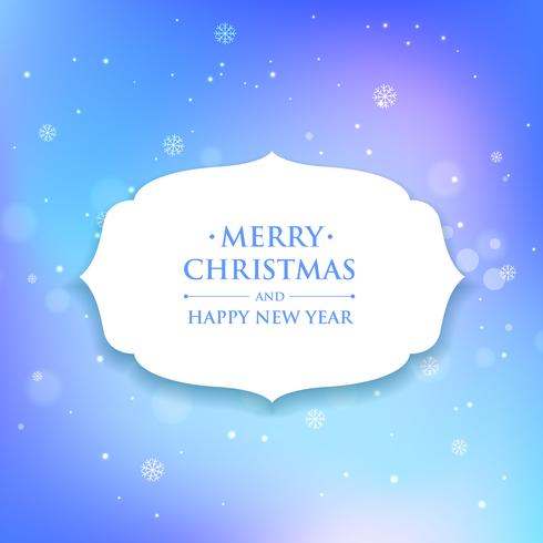 christmas greeting in blue background