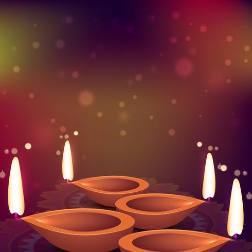 diwali light festival card