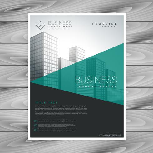 modern torquoise brochure flyer with geometric shapes