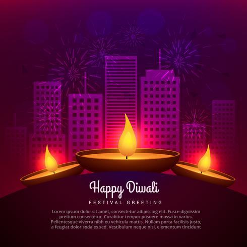 diwali diya place infront of building design