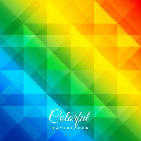 colorful diamond patterns poster vector design illustration