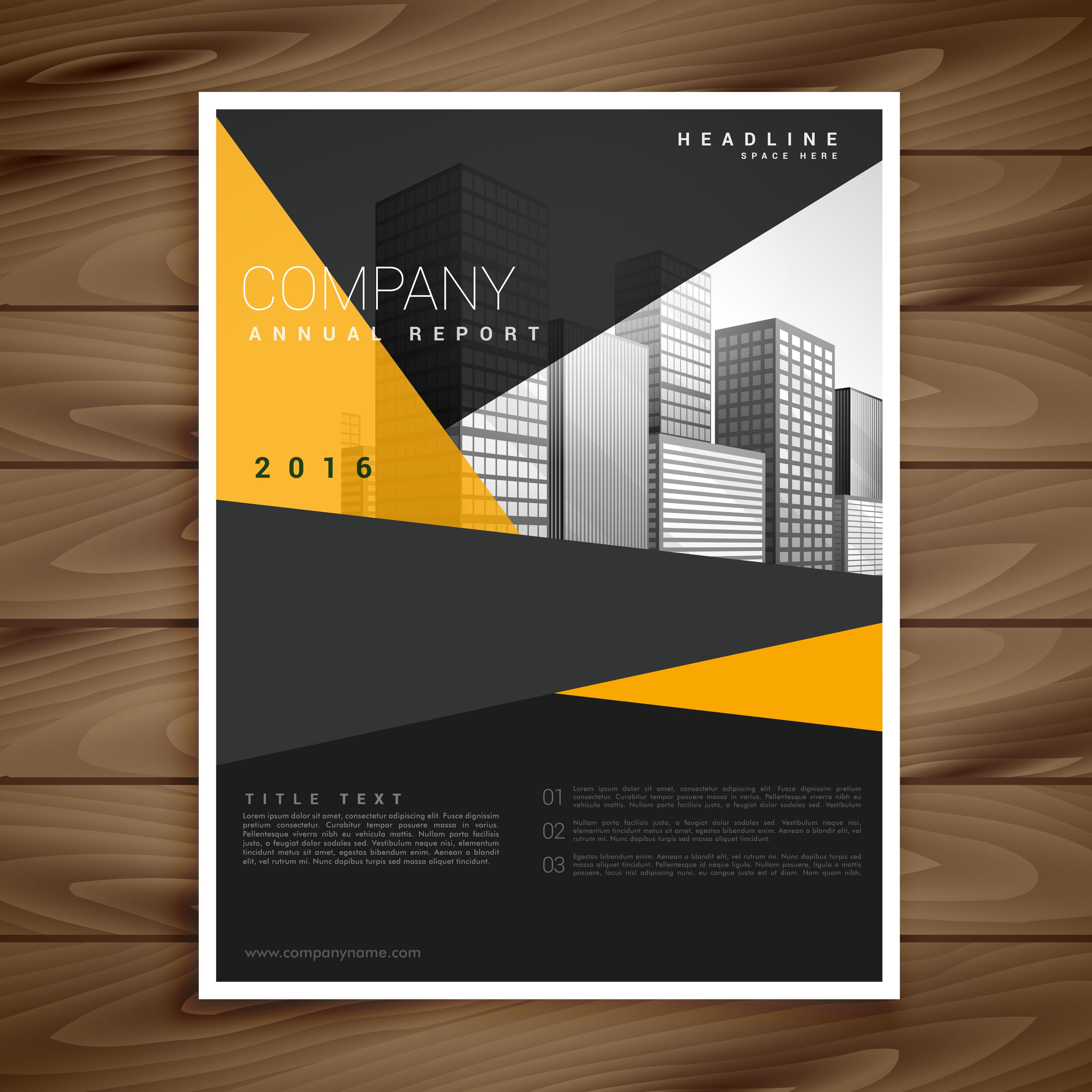 modern brochure design - yellow and black modern brochure flyer design descargue