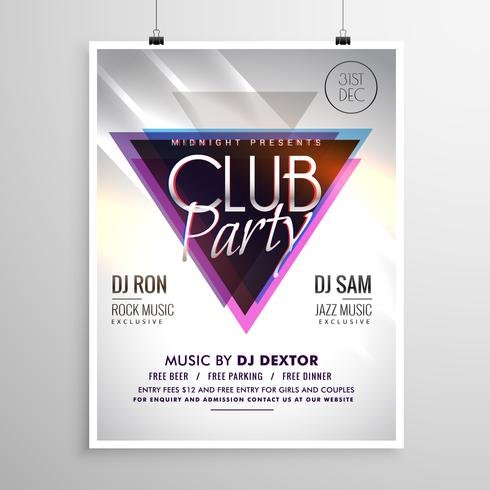 club party music flyer invitation template poster