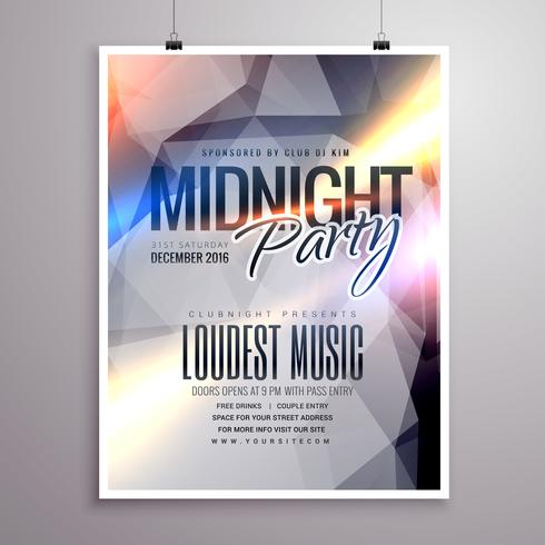 midnight music party flyer brochure template