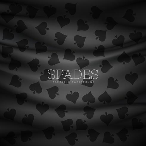 dark spades pattern vector background