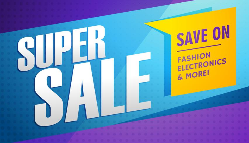 super sale banner template
