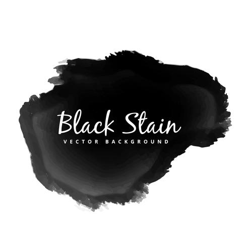 grunge watercolor black stain vector design illustration