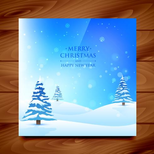saludo de navidad de invierno