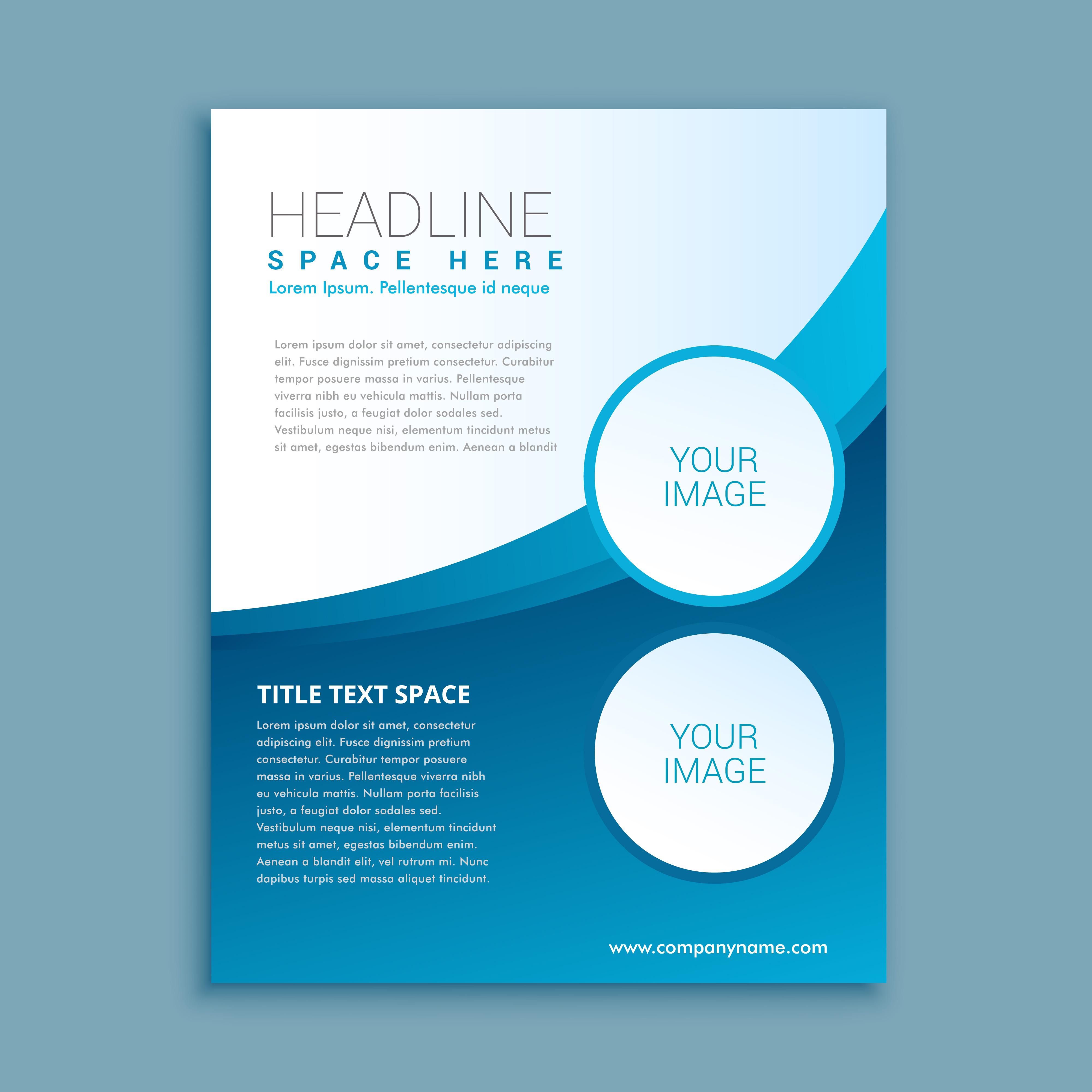 business brochure or flyer design template