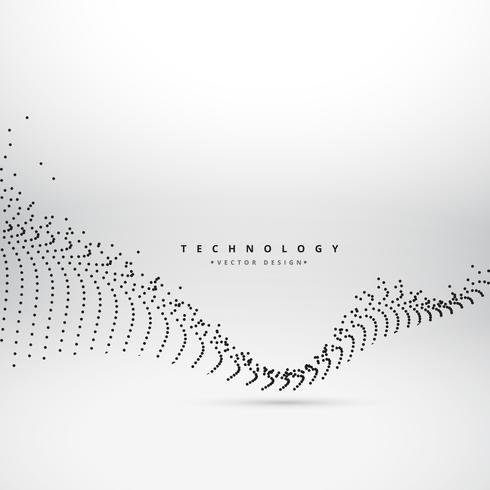 digital mesh wave technology background vector design illustrati