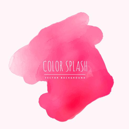 pink watercolor splash of ink vector design illustration