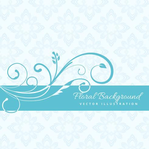blå blommig bakgrund