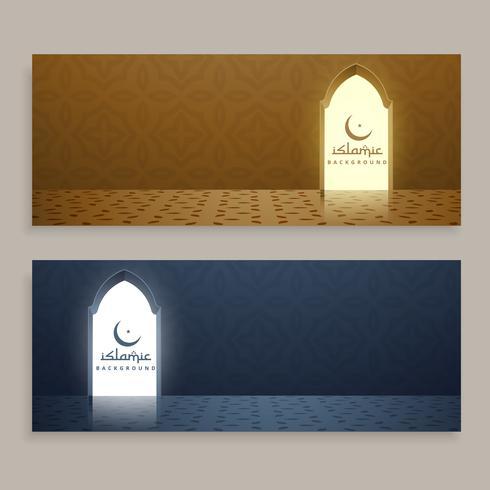 ensemble de bannières islamiques ramadan kareem