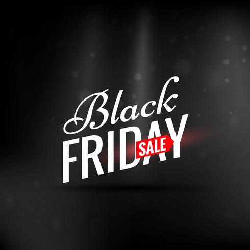 elegant clean black friday sale design illustration