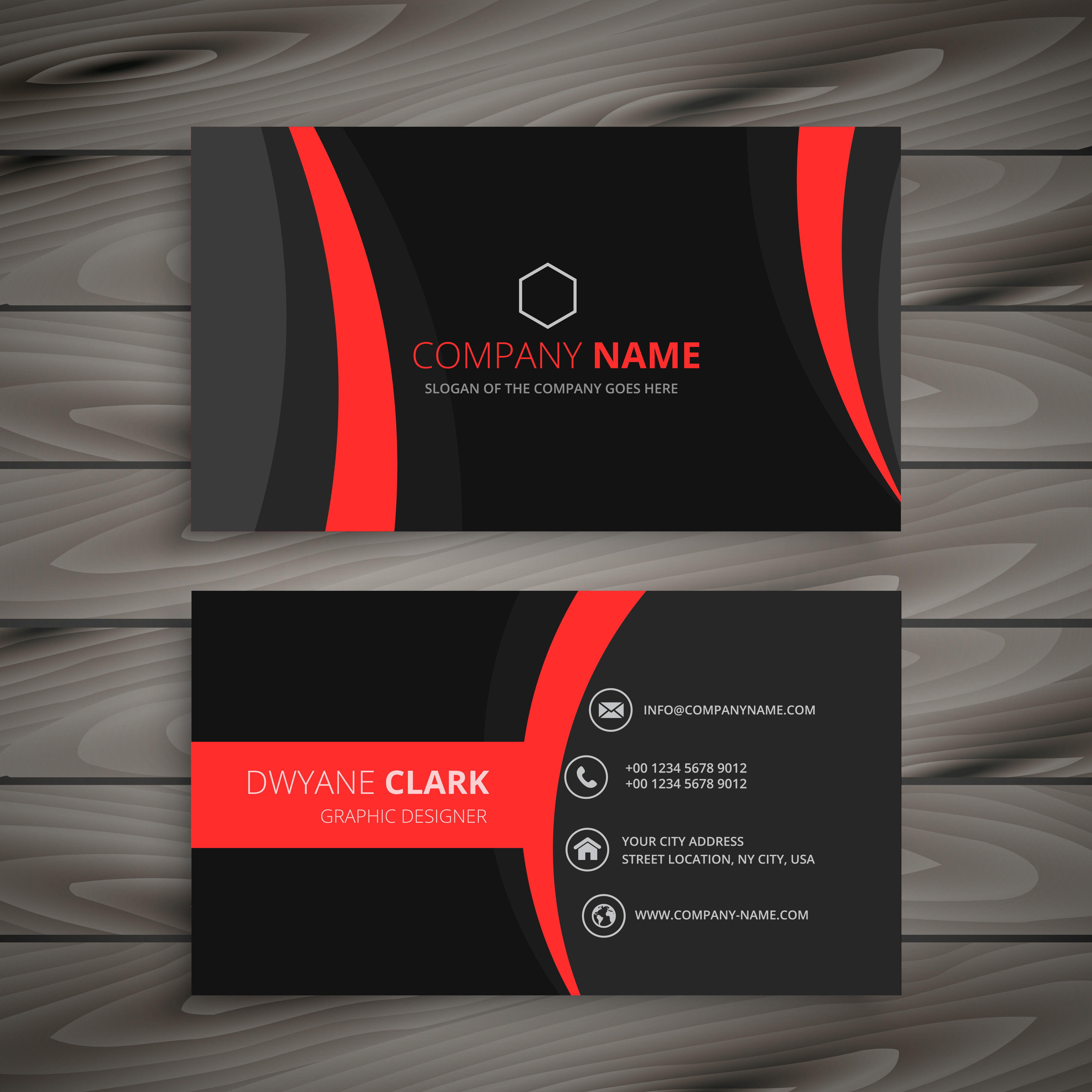 Dark modern red black business card template vector design illus dark modern red black business card template vector design illus download free vector art stock graphics images reheart Images