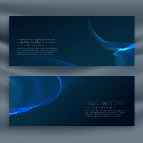 blue dark banner template