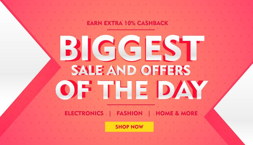 biggest sale offer banner template for brand promotion