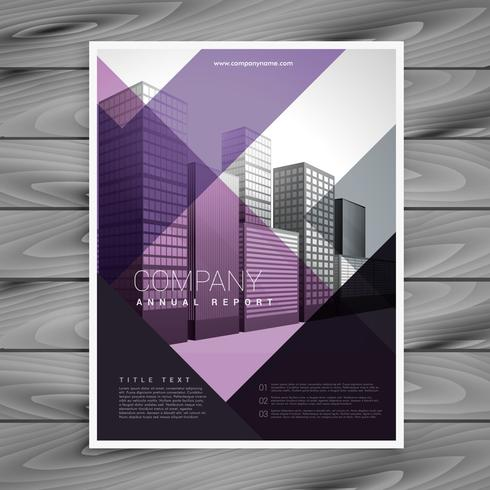 purple brochure design template for your brand