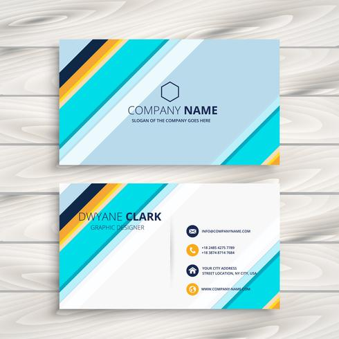 modern abstract business card template vector design illustratio