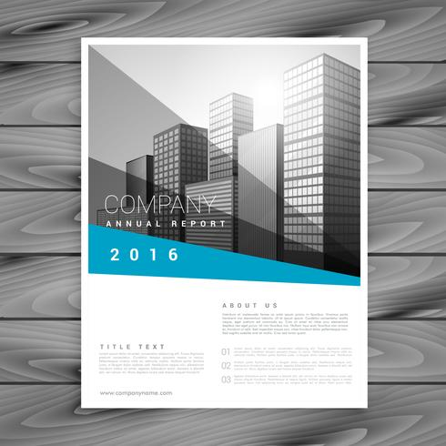 comnpany annual report flyer brochure template