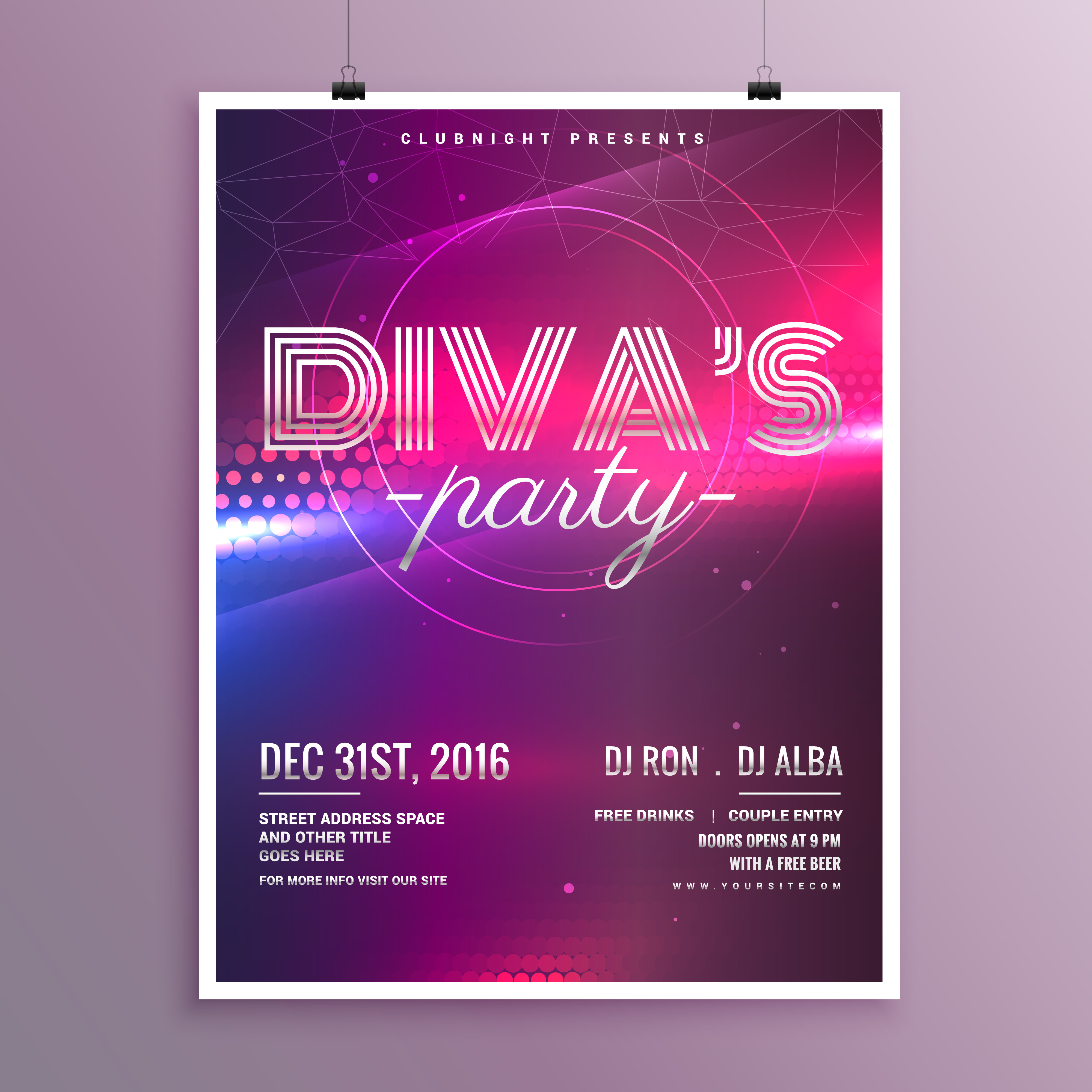 music party flyer template in a4 size download free