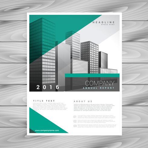 modern green brochure flyer design cover