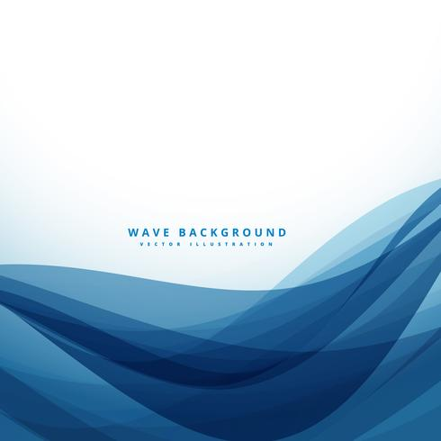 clean blue business style wave background