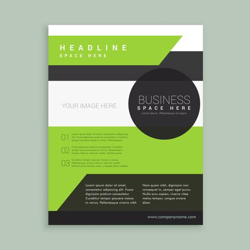 modern green black brochure template