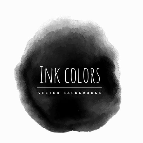black ink background stain vector design illustration