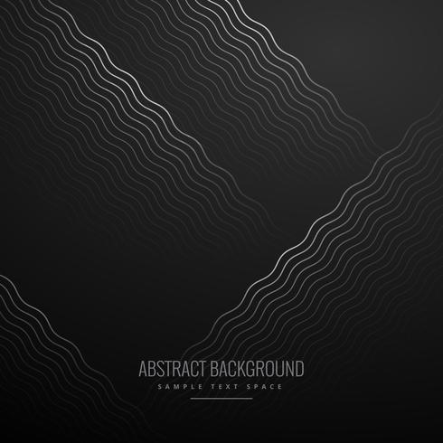 abstract curve zig zag lines in black background