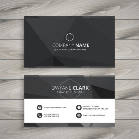 black business card design template vector design illustration