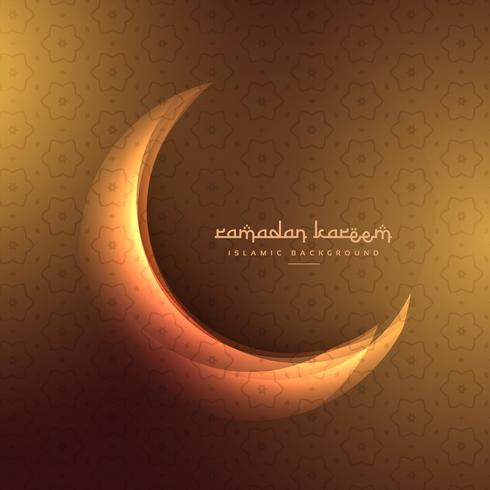 crescent moon on golden background